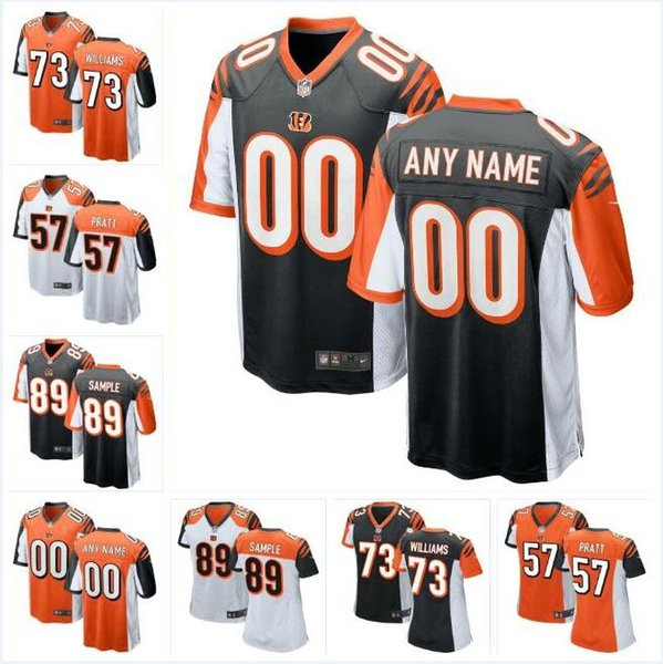 hot sale online 9c81c eca34 2019 Draft Jonah Williams Bengals Jersey Drew Sample Germaine Pratt AJ  Green Andy Dalton Ryan Finley Custom American Football Jerseys Color Rush  From ...