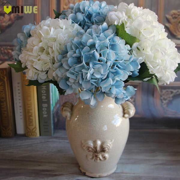 Decorations Dried Flowers 5 Heads Real Touch Artificial Fake Silk Flower Hydrangea Leaf Artificial Flowers Silk Bouquets For Home Party