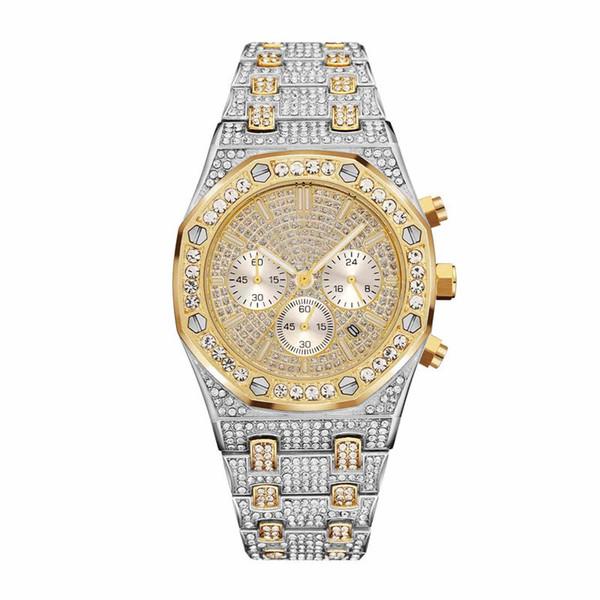Swi de ign men and women watch fa hion brand watch de igner quartz movement luxury watch rhine tone tainle teel