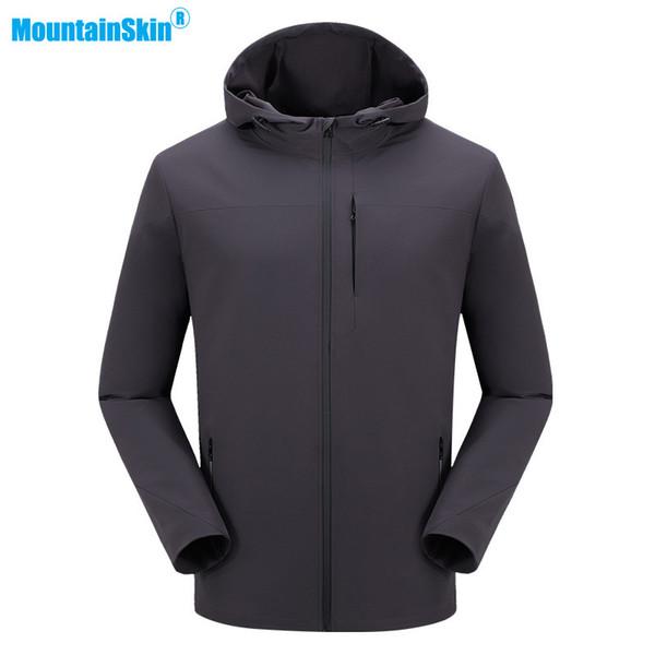 mountainskin men's spring jacket softshell waterproof windbreakers outdoor hiking trekking camping fishing coat sportswear ma182
