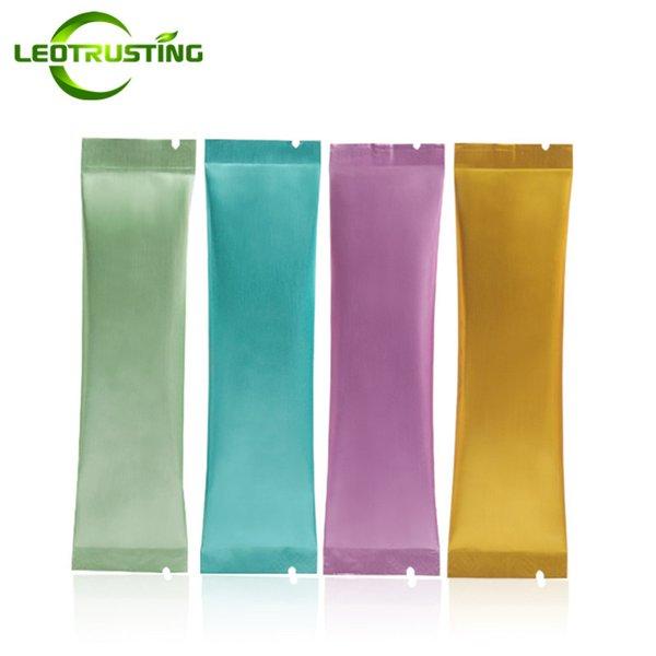 Leotrusting 500 stücke 30x120mm Kleine Farbe Aluminiumfolie Open Top Tasche Kaffee Obst Probe Verpackung Tasche Heißsiegelbeutel