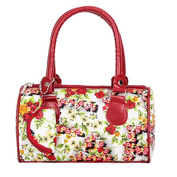 Damenmode bestickte Lederhandtasche Schultertasche Handtasche Dame + 0 Wallet # YL5