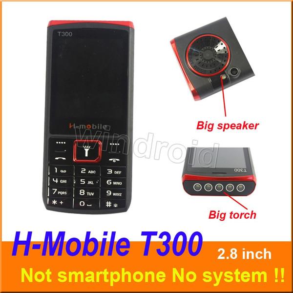 H-Mobile T300 2,8 pouces moins cher téléphone mobile Dual Sim Quad Band 2G GSM débloqué téléphone portable avec le haut-parleur de la torche whats app gratuit