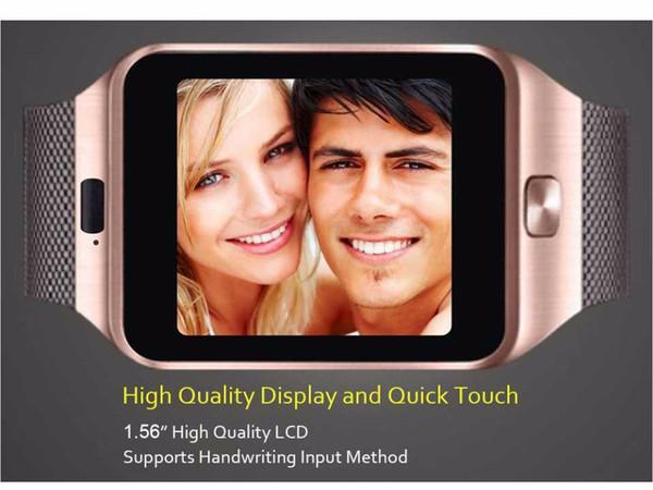 Smart watch dz09 mart clock upport tf im camera men women port bluetooth wri twatch for am ung huawei xiaomi android phone