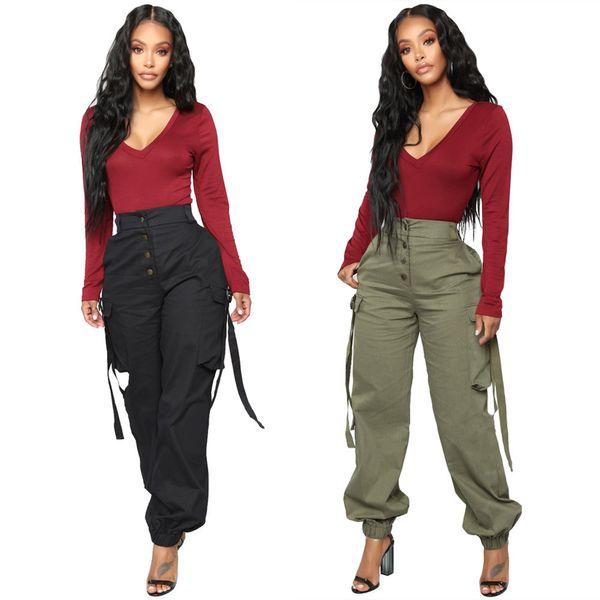 Sytle Mode Pantalon cargo Femmes Femme Automne Classics Confort extérieur capris dames Vêtements d'hiver Streetwear Pantalon Pantalon Streetwear
