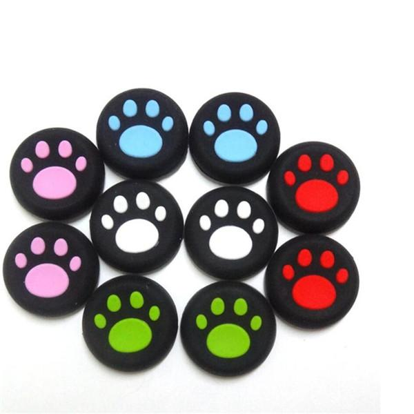 top popular Luminous Silicone Rubber Thumb Stick Protective Cap Joystick Grip Paw Cover Universal For PS4 PS3 Xbox ONE 360 Controller Dualshock 4 2020