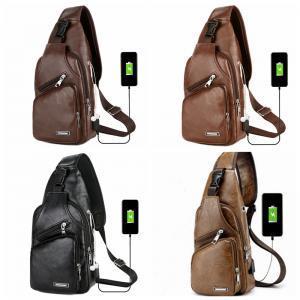 Borsa portapenne USB ricarica esterna Borsa portatile multi tasca per il tempo libero in pelle con cerniera Borsa sportiva a tracolla borsa a tracolla LJJT255