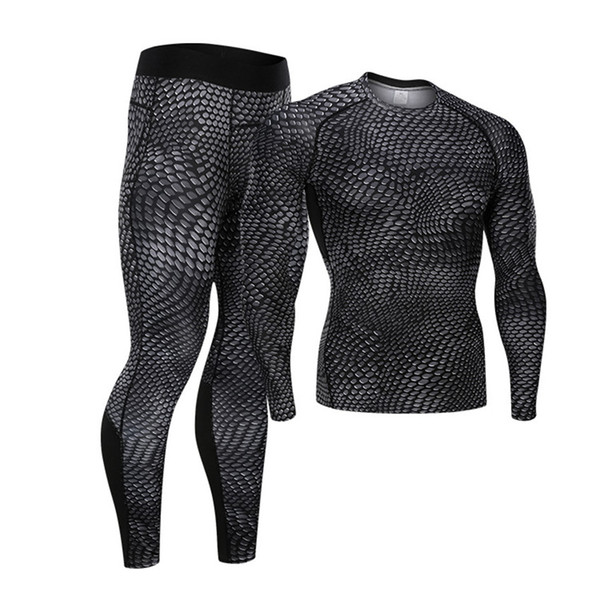 Новый фитнес костюм спортивный костюм мужской баскетбольный бег тренировочный компрессионный быстросохнущие штаны