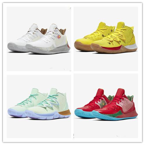 New Kyrie Sponge Bobs Men Basketball Shoes 5 Trainers Kyrie Irving 5s Squidward Mountain Oreo Friends Patrick Sports Sneakers Size 40-46