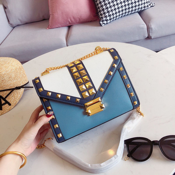 2019 Whitney luxury famous rivet leather designer Handbags girl backpacks handbag Sac à main bags purse women cross-body dropship 052601