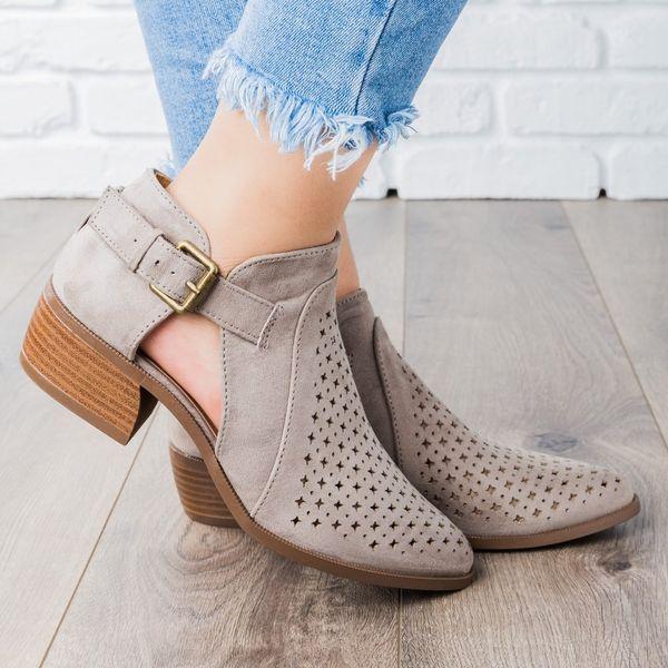 LOOZYKIT Nova Primavera Verão Sapatos Mulher Bomba Peep Toe Sandálias Das Mulheres Zip Chunky Salto Quadrado Ankle Boots Mulheres Sandálias Plus Size