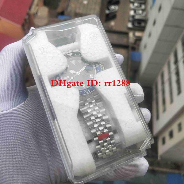 Súper fábrica Nuevo 2019 Modelo Basel World GMT II Automático Bisel de cerámica 126710 126710BLNR 126710BLRO Relojes Reloj GMT Work para hombre