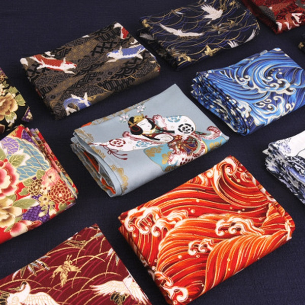 best selling Japanese style and wind sushi cloth food mat Xiangyun Qinghai wave wind gift wrapped cloth cover photo shoot background cloth