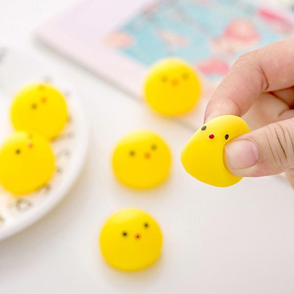Ridotta pressione rotonda giallo palle bambini adulti carino anti-stress giocattolo palla divertenti mini giocattoli stampati anatra palle di decompressione BH1683 tqq