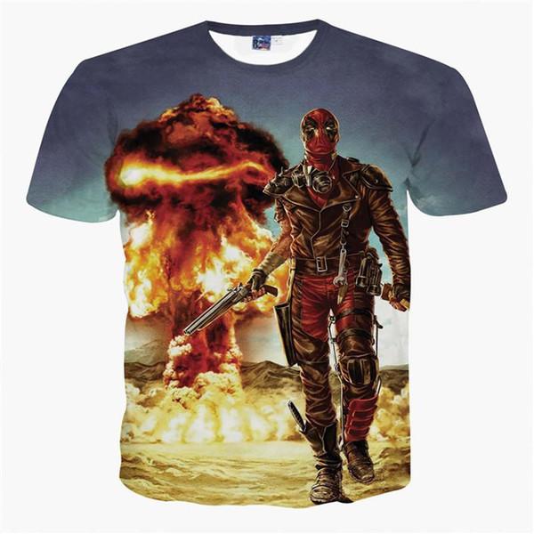 Хороший новый модельер мужская футболка Дэдпул 2d печати лето повседневная футболка Футболка американский комикс задира Дэдпул тройники топы