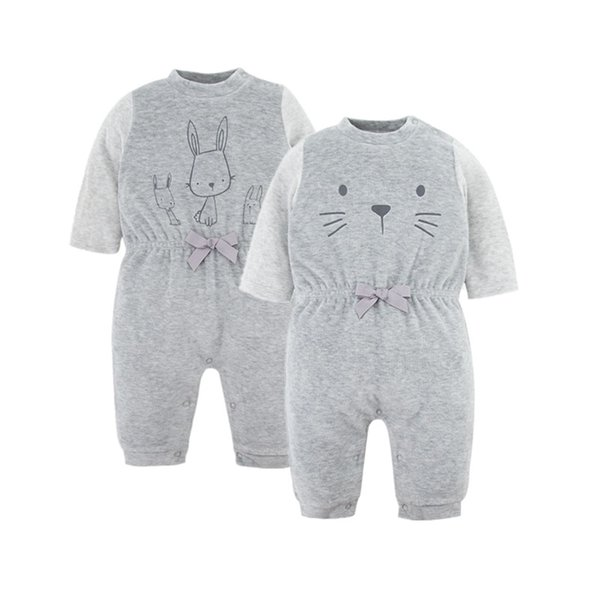 2019 New Fashion Newborn Boy Romper Toddler Infant Baby Boys Romper Long Sleeve Jumpsuit Playsuit Little Boy Outfit Gray Clothes
