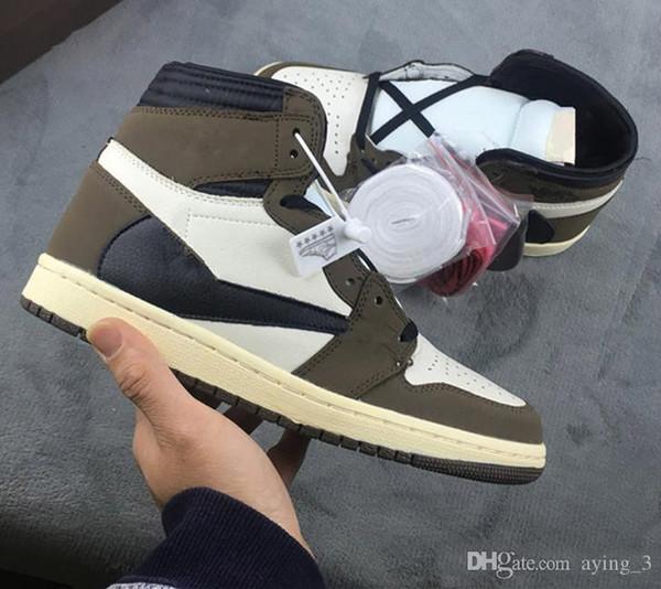 2019 EN İYİ Yeni 1 yüksek og yeşil kahverengi Düşük erkekler basketbol ayakkabıları spor ayakkabı eğitmenler en kaliteli boyutu 7-13