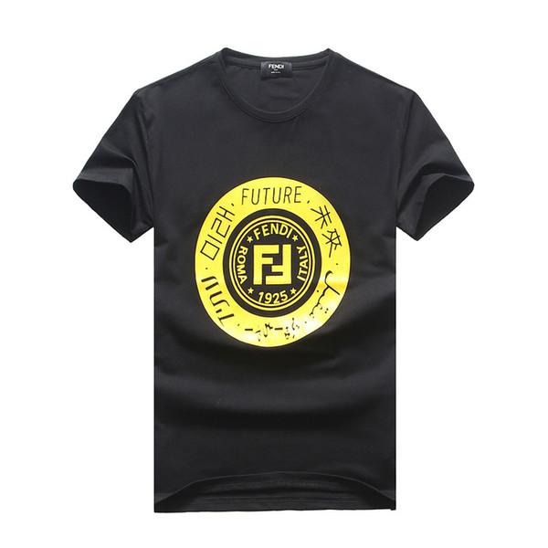 Los hombres de moda divertido O-cuello T-shirt # 3127 suéter de algodón de verano de manga corta cuello redondo camisetas masculinas Gym Sport Casual Slim Tops