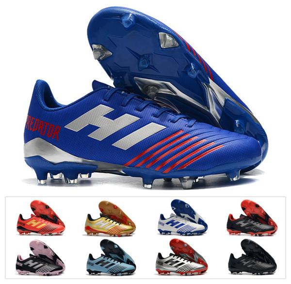 2019 Prédateur Chaud 19.4 FG Tango 19 Costume Froid FG Football Crampons Bottes De Football Hommes Chaussures De Football Pas Cher Taille 39-45