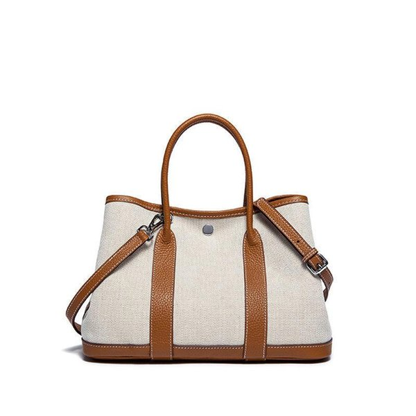 New 2019 Classic Casual Patchwork Tote Popular Women Canvas & Split Leather Handbags Ladies Bag Messenger Bags For Female An768