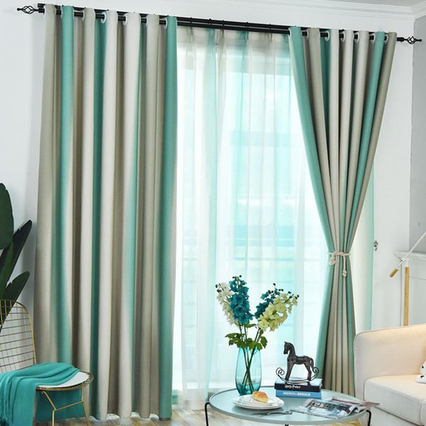 Modern Elegant Bedroom Striped Living Room Drapes Shading Window Curtain Tulle Nordic Style Colorful Rainbow Hanging Blackout Buy At The Price Of 26 17 In Dhgate Com Imall Com