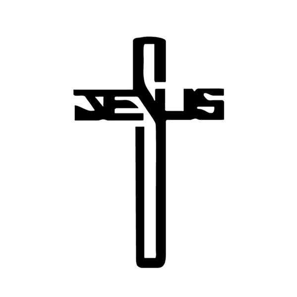 Christian Jesus Cross Truck Decals For Car Body Accessorise Religious Stickers Fashion Personality Creativity