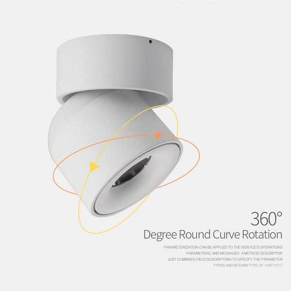 LED-Decken-Einbauleuchte, verstellbar um 90 Grad, Nordic-Spot-Licht für das Foyer im Innenbereich, Wohnzimmer-AC 90-260V