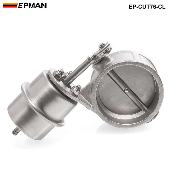 top popular EPMAN High-performance NEW vacuum Activated Exhaust Cutout 3'' 76MM Close Style Pressure: about 1 BAR EP-CUT76-CL 2021