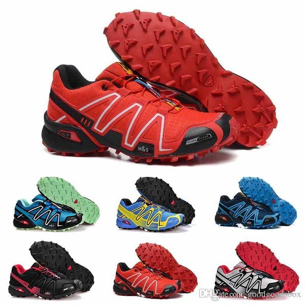 2018 Summer New casual Speedcross 4 4s Red Trail Runner Men's And Women's Sports Shoes Fashion Hot Sale Sneakers Outdoor Running S