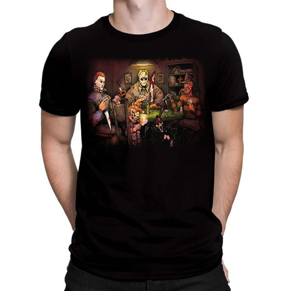 Original Movie Slashers At The Poker Table Adult T Shirt We Also Have The Poster