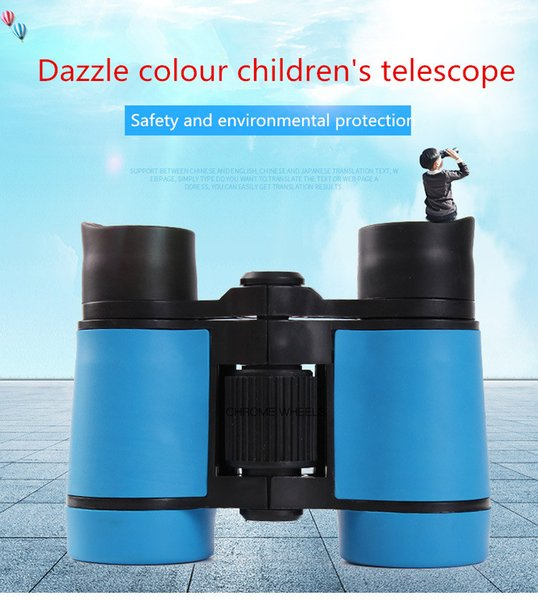 Children's ABS Telescope 4*30 Colour rubber Handle anti-skid Children's Toys outdoors Binocular Telescope Mini Safe and Environmental
