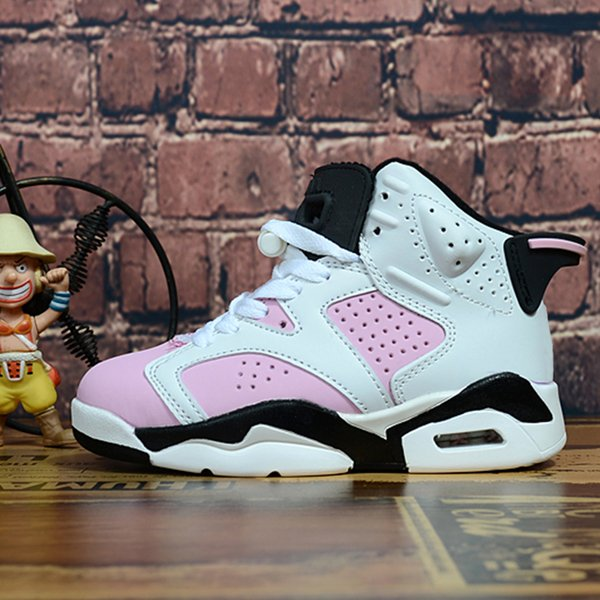 Acheter Nike Air Jordan 6 Bébé Fille Garçons Enfants Respirant Basketball Sneaker Designer J 6 Marque Athletic Sports Casual Chaussures Printemps