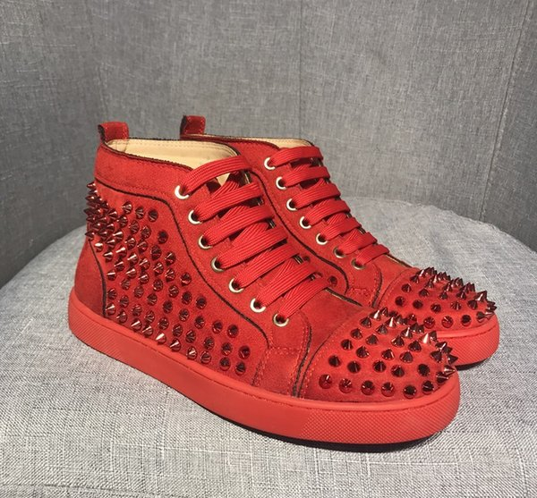 Big size Us5-us13 Eur47 Luxury Spike shoes redbottom sneakers red bottom for men Sneakers With box Dust bag