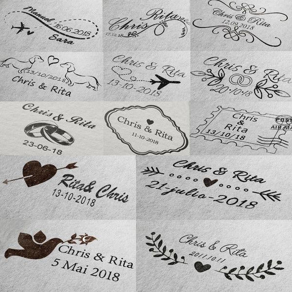 Custom Wedding Self Inking For Invitation Address Envelope Rectangle 31x41mm Personalized Stamp Q190528 Post Stamp Cheap Stamps From Yiwang08 15 02