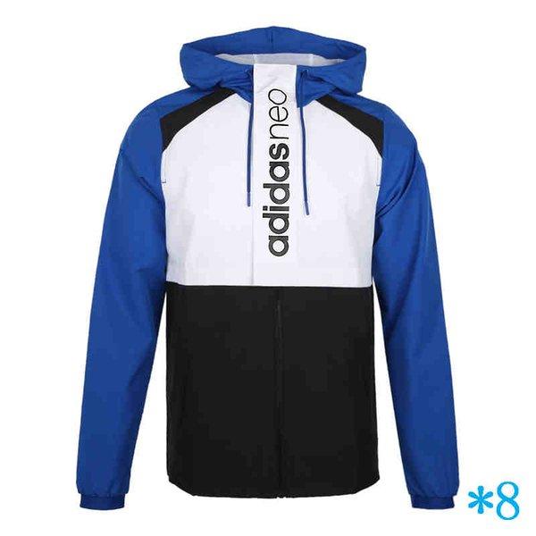 Fashion mich Marken-Sportjacken Windjacke Marke Sweatshirt Herren Jacke Dünner lässige Sportswear-Jacke Mäntel S-2XL # 8