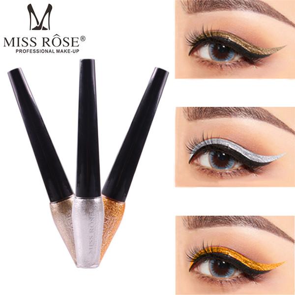 MISS ROSE Jin Cong Pearl Liquid Eyeliner Diamond High Gloss Eyeliner Long Lasting Waterproof Liquid Eyeshadow