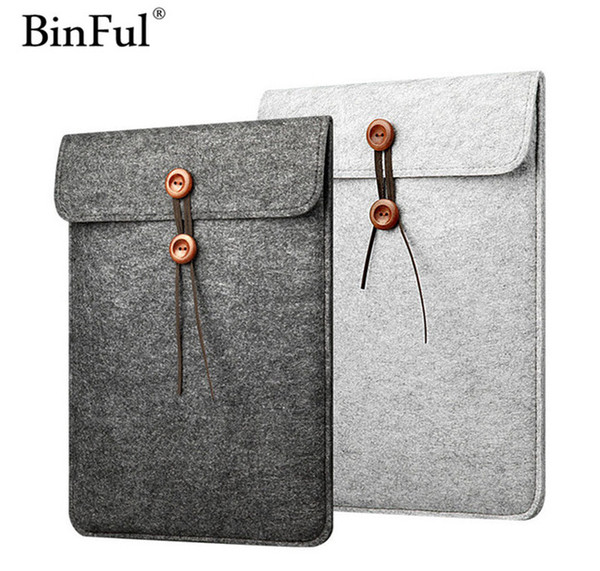 Big sales sentiu soft sleeve bag case para apple macbook air pro retina 11 12 13 15 17 laptop anti-risco capa para ipad 9.7 air pro