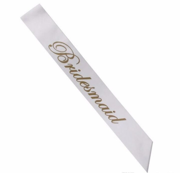 Women Wedding Banner Gold Letters Bride To Be Satin Sash Shoulder Strap