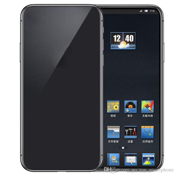 best selling Goophone 12 Pro Max 6.7inch Dual Back Camera 3G WCDMA Quad Core MTK6580 1.2GHz 1G 16G can show fake 5G