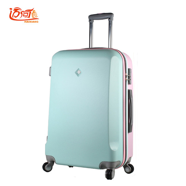 20 24 26 inch candy color vintage suitcase luggage Stitching color zipper lock suitcase wheels splicing travel spinner lug