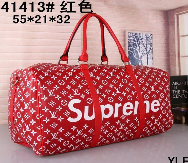 top popular 54CM large capacity women travel bags famous classical 2018 sale high quality men shoulder duffel bags carry on luggage keepall 2019