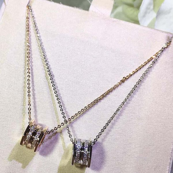 valentine day gift recommended classic couples play sweet spring necklace titanium steel platinized platinum wholesale