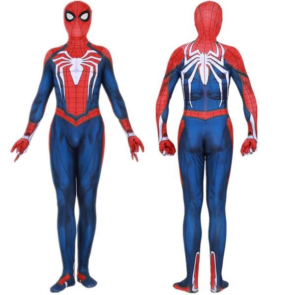 Insomniac Games Spiderman Cosplay Costume Zentai Spider Man Superhero Bodysuit Suit Jumpsuits Q190428