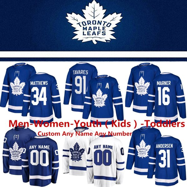 Toronto maple leaf jer ey 16 mitchell marner hockey jer ey 19 ja on pezza 31 frederik ander en morgan rielly william nylander jake muz, Black;red