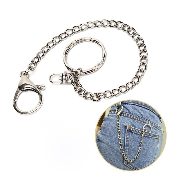 Fashion Long 18cm Metal Wallet Belt Key Chain Rock Punk Trousers Keychain Hipster Jean Keychains HipHop Key Chains Jewelry