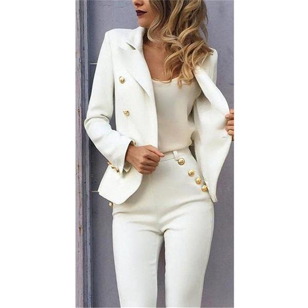 Nouvelles femmes costumes blazer avec pantalon femmes costumes d'affaires formel Bureau travail élégant pour les mariages Slim Fit Custom Made