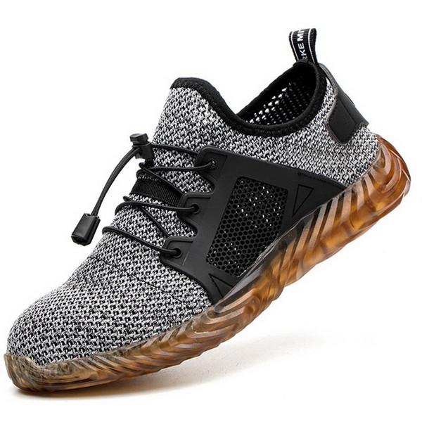 MoneRffi Indestructible Ryder Shoes Hombre Mujer Dedo del acero Seguridad aérea Zapatillas a prueba de pinchazos Zapatos transpirables tenis masculino