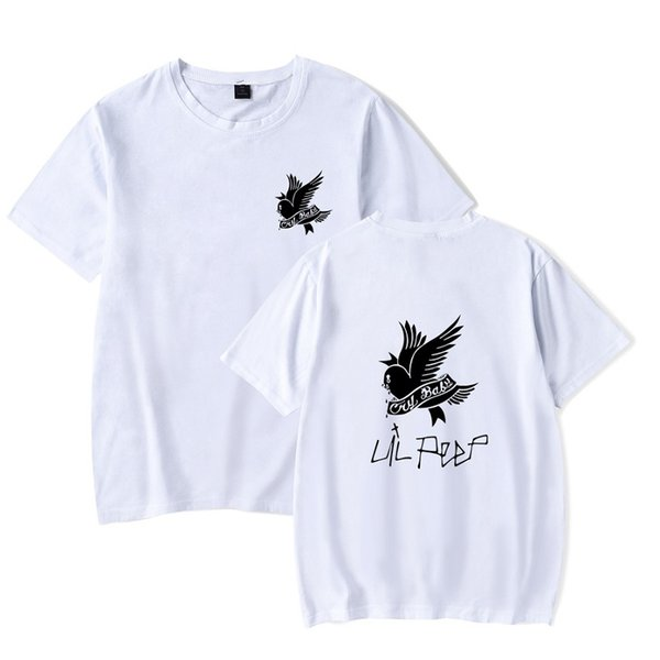 Liebhaber Casual Designer Kurzarm T-Shirt Lil Peep / Messi Muster 65% Baumwolle Dünnes Material T-Shirt Leniency Sommer Einfache Trend Bekleidung für die Freizeit
