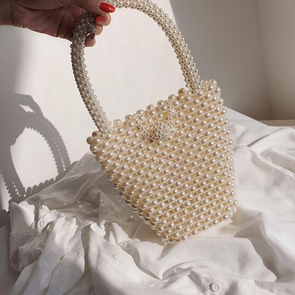 Личность Mini сумка 2019 моды лета нового высокого качества женщин дизайнер сумочку элегантный Pearl Tote плеча