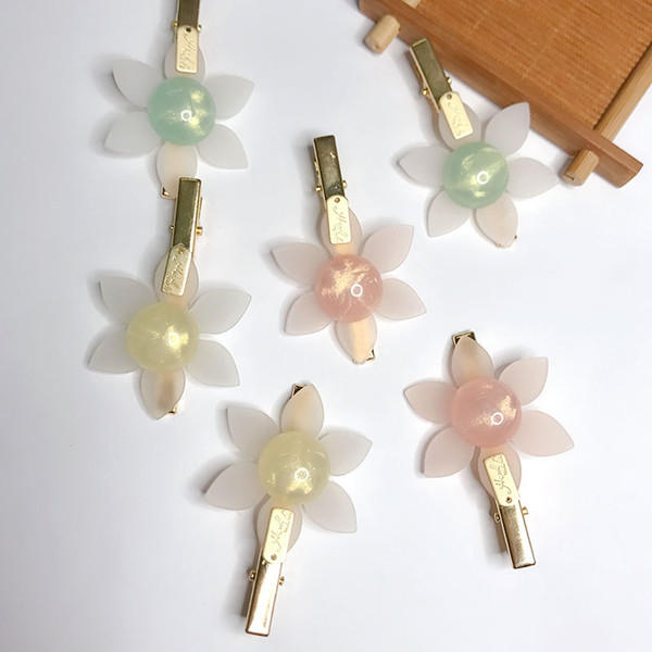 New Acrylic Hair Clip, Duck Bill Clip, Girl Mori Hair Ornament, 2019